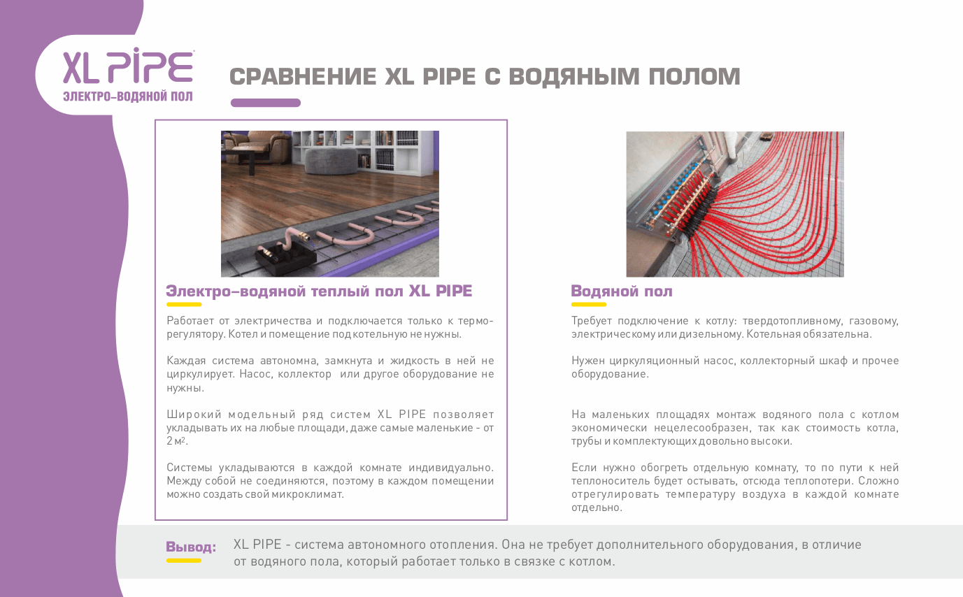 XL-Pipe и водяной пол